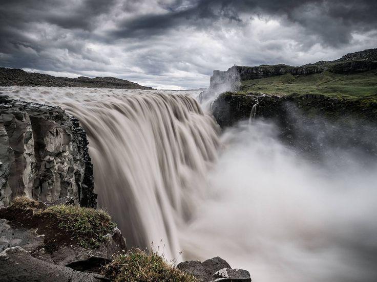 Dettifoss waterfall landscape